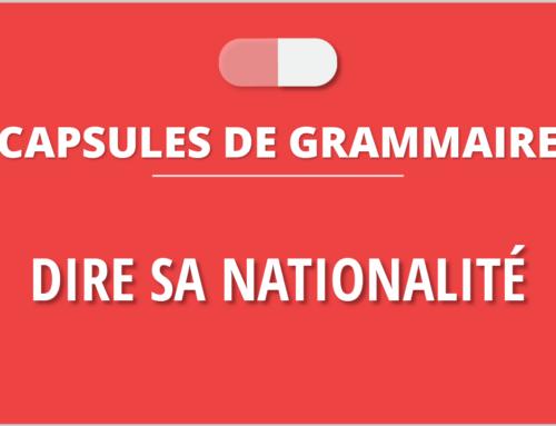 Nacionalidades en francés