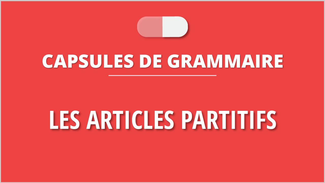 Les articles partitifs en français