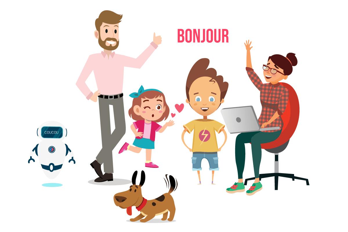 Aprende francés con Léo y su familia