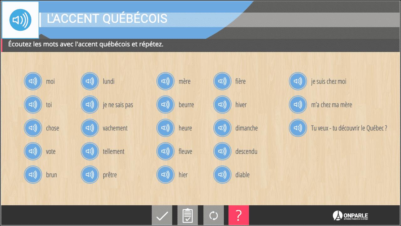 cursos de francés para niños - Recursos digitales Onparle Actividades Interactivas